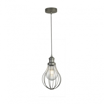 метален пендел, pewter colour, searchlight, balloon cage, 1x40w, 1381-1pw