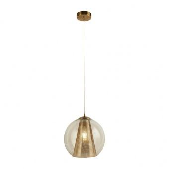 метален пендел, satin brass, searchlight, conio, 1x40w, 8271sb