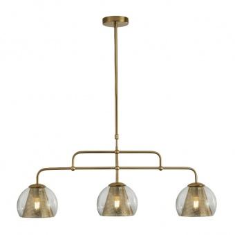 метален полилей, satin brass, searchlight, conio, 3x40w, 8273-3sb