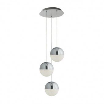 метален полилей, chrome, searchlight, marbles, led 3x12w, 4000k, 3x500lm, 5842-3cc