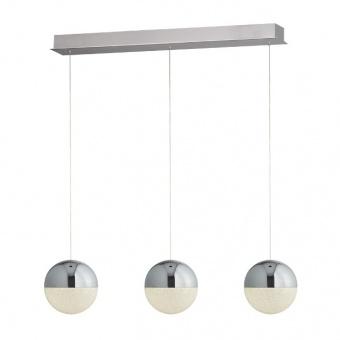 метален полилей, chrome, searchlight, marbles, led 3x12w, 4000k, 3x500lm, 5843-3cc