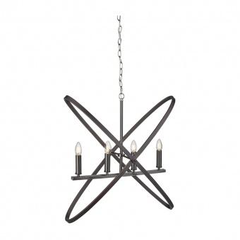 метален полилей, pewter/brown, searchlight, hoopla, 4x40w, 8244-4pw