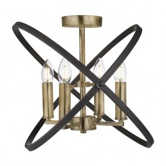 метален полилей, bronze/brown, searchlight, hoopla, 4x40w, 8344-4bz