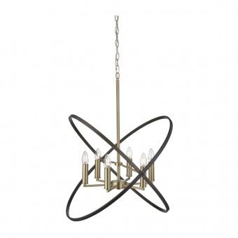 метален полилей, bronze/brown, searchlight, hoopla, 6x40w, 8246-6bz