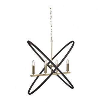 метален полилей, bronze/brown, searchlight, hoopla, 4x40w, 8244-4bz