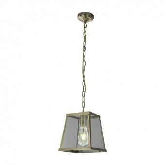 стъклен пендел, antique brass, searchlight, voyager, 1x40w, 4614ab
