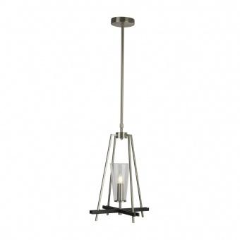 стъклен пендел, satin silver/black, searchlight, danika, 1x40w, 2131-1ss