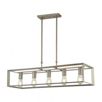 метален полилей, brushed silver black, searchlight, heaton, 5x40w, 2415-5si