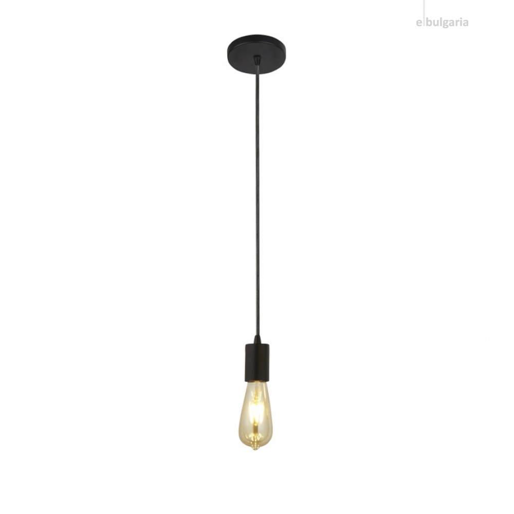 метален пендел, matt black, searchlight, squiggle, 1x40w, 9661bk