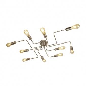метален плафон, satin silver, searchlight, circuit, 10x10w, 99210-10ss