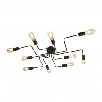 метален плафон, matt black, searchlight, circuit, 10x10w, 99210-10bk