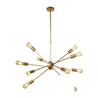 метален полилей, matt gold, searchlight, alpha, 10x40w, 29010-10go