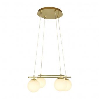 стъклен полилей, gold, searchlight, kris cross, 4x33w, 4894-4go