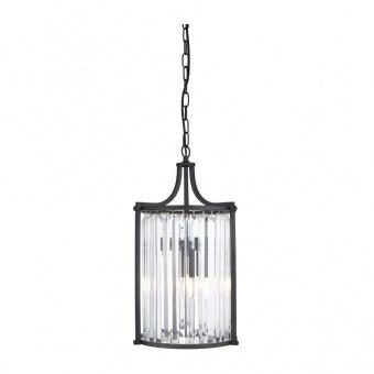 кристален пендел, matt black, searchlight, victoria, 2x40w, 8092-2bk