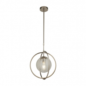 стъклен пендел, satin silver, searchlight, pendants, 1x40w, 8391-1ss