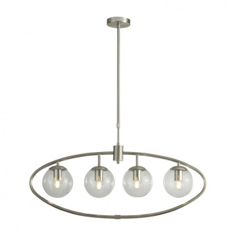 стъклен полилей, satin silver, searchlight, pendants, 1x40w, 8064-4ss
