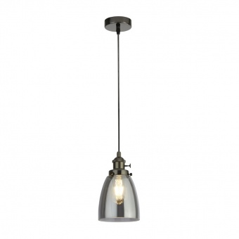 стъклен пендел, black chrome, searchlight, pendants, 1x40w, 1921-1bc