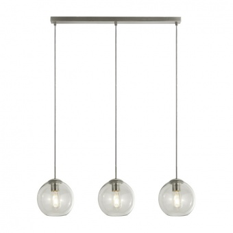 стъклен полилей, satin silver, searchlight, pendants, 3x40w, 1623-3cl