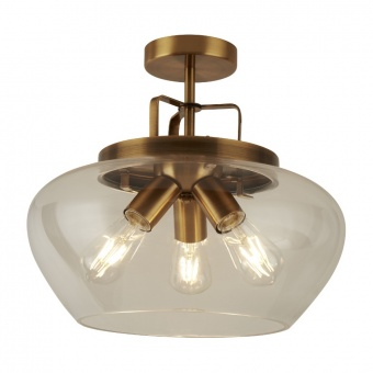 стъклен полилей, bronze, searchlight, boule, 3x40w, 8973-3bz