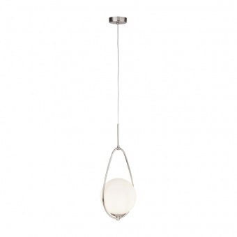 стъклен пендел, satin silver, searchlight, avalon, 1x40w, 9171-1ss