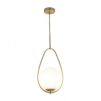 стъклен пендел, gold, searchlight, avalon, 1x40w, 9171-1go