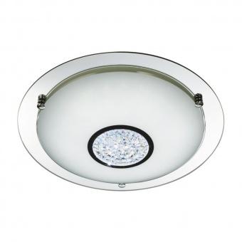 стъклен плафон, chrome, searchlight, bathroom, led 12w, 4000k, 700lm, 3883-31
