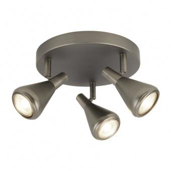 метален спот, matt antique silver, searchlight, tinley, 3x35w, 7243-3as