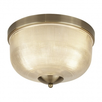стъклен плафон, antique brass, searchlight, bistro II, 2x40w, 1352-2ab