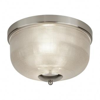 стъклен плафон, satin silver, searchlight, bistro II, 2x40w, 1352-2ss