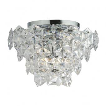 кристален плафон, chrome, searchlight, tiles II, 7x40w, 5477-7cc