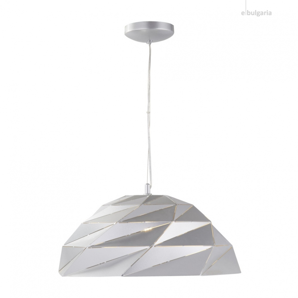 метален пендел, metallic silver, searchlight, origami, 1x40w, 6242si