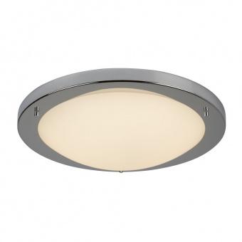 стъклен плафон, chrome, searchlight, led flush, led 20w, 3000k, 1000lm, 8703cc