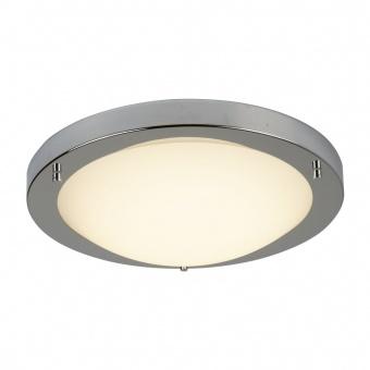 стъклен плафон, satin silver, searchlight, led flush, led 12w, 3000k, 600lm, 8702ss
