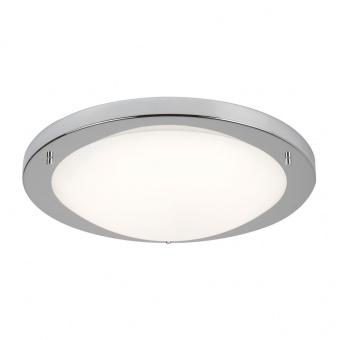 стъклен плафон, satin silver, searchlight, led flush, led 20w, 3000k, 1000lm, 8703ss