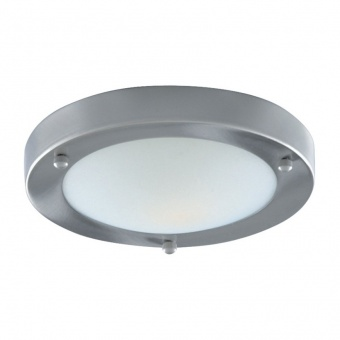 стъклен плафон, sarin silver, searchlight, bathroom flush, 1x40w, 1131-31ss