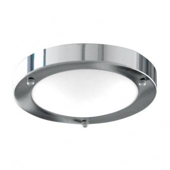 стъклен плафон, chrome, searchlight, bathroom flush, 1x40w, 1131-31cc
