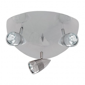 метален спот, satin silver, searchlight, falcon, 3x35w, 693ss
