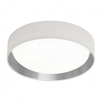 текстилен плафон, white/silver, searchlight, gianna, led 15w, 3000k, 950lm, 9371-37wsi