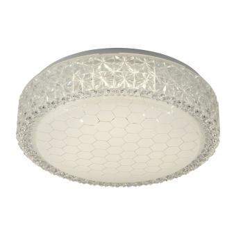 pvc плафон, hexagon pattern acrylic, searchlight, flush, led 12w, 3000k, 960lm, 5750-28