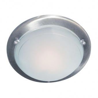 стъклен плафон, satin silver, searchlight, flush, 1x40w, 702ss