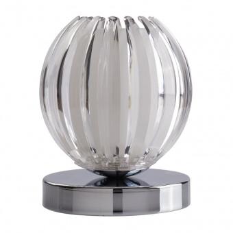 метална настолна лампа, chrome/clear+white, searchlight, claw, 1x33w, eu1811cl