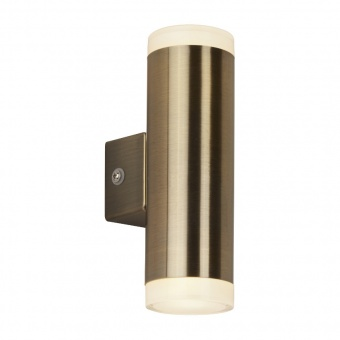 pvc градински аплик, antique brass, searchlight, led outdoor, led 8w, 3000k, 650lm, 2100ab