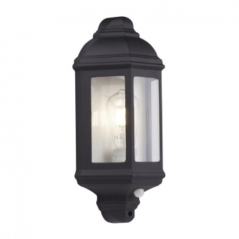 метален градински аплик, black, searchlight, outdoor&porch, 1x40w, 280bk-pir
