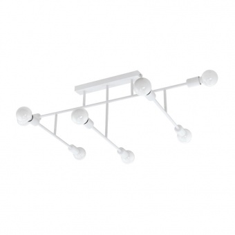 метален плафон, white, eglo, belsiana, 8x40w, 98033