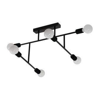 метален плафон, black, eglo, belsiana, 6x40w, 98034