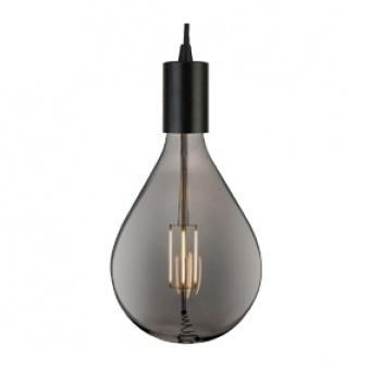 led лампа 8w, е27, топла светлина, smoke, searchlight, giant led spiral filament teardrop, 2200k, 500lm, 1113sm