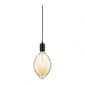led лампа 8w, е27, топла светлина, amber, searchlight, giant led spiral filament balllon, 2200k, 800lm, 1112am
