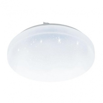 pvc плафон, with crystal , eglo, frania-s, led 11.5w, 3000k, 1350lm, 97877