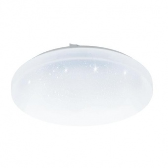 pvc плафон, with crystal , eglo, frania-s, led 17.3w, 3000k, 2000lm, 97878