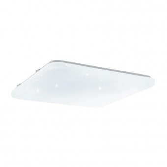 pvc плафон, with crystal , eglo, frania-s, led 33.5w, 3000k, 3900lm, 97883